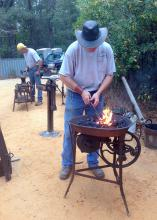 Picayune area blacksmiths will demonstrate their skills at Forge Day on Jan. 25 at the Mississippi State University Crosby Arboretum. Adults and children may try their hand at metalworking at select booths. (Photo Courtesy of MSU Crosby Arboretum)