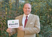Mississippi State University President and 4-H alumnus Mark Keenum encourages current and former members of the state's 4-H Youth Development program to participate in the upcoming National 4-H Week's #iam4H campaign set for Oct. 5-11, 2014. (Photo by MSU Ag Communications/Linda Breazeale)