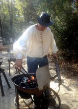 Blacksmith Chuck Averett demonstrates his skill on an authentic 1860s forge during last year's Forge Day at the MSU Crosby Arboretum in Picayune. The 2015 Forge Day is set for Jan. 31 from 10 a.m. to 2 p.m. (Photo by MSU Extension Service/Pat Drackett)