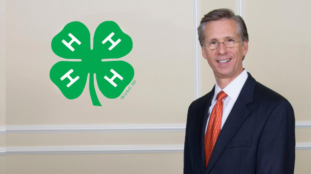 4-H logo and AT&T Mississippi president.