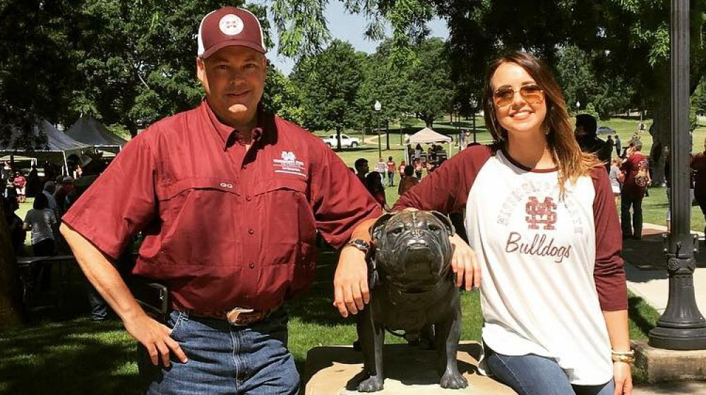 Extension Agent, Trent Barnett and Office Associate, Katelyn Bailey enjoying Staff Appreciation Day in Starkville, MS.