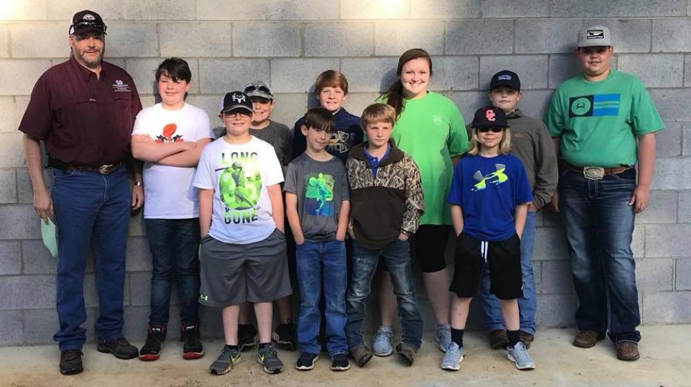 Extension Agent, Trent Barnett and our 4-H shooting sports club members at the 2018 Shooting Sport Competition in West Point, MS.