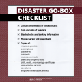Graphic of disaster go box checklist