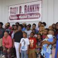 The extended family of Ruby D. Rankin, 1960-2017, gathered Monday to celebrate the dedication of the local farmers market in honor of her 33 years as a community leader with the Mississippi State University Extension Service. (Photo by MSU Extension/Kevin Hudson)