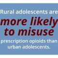 Rural adolescents are more likely to misuse prescription opioids than urban adolescents.
