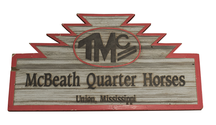 McBeath Quarter Horses sign