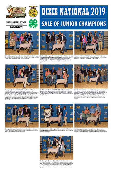 The Dixie National  Sale of Champion Market Lamb winners.