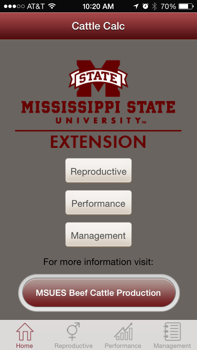 MSU Extension Cattle App screenshot.